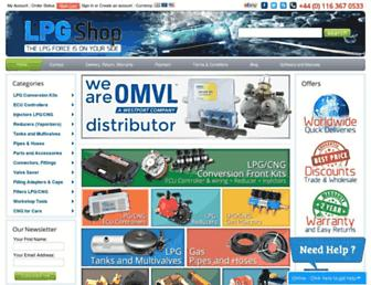 lpgshop.co.uk screenshot