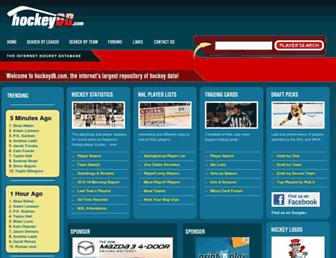 Thumbshot of Hockeydb.com