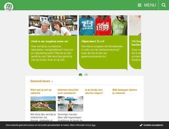Main page screenshot of cm.be