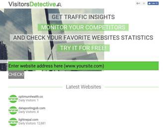 visitorsdetective.com screenshot