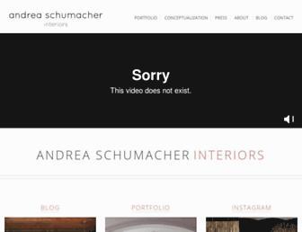 andreaschumacherinteriors.com screenshot