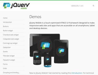 demos.jquerymobile.com screenshot