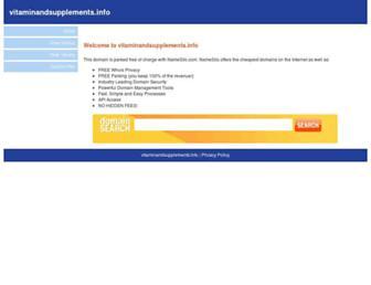 Main page screenshot of vitaminandsupplements.info