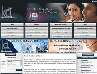 callcentersindia.com screenshot