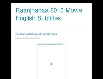 raanjhanaa2013movieenglishsubtitles.blogspot.com screenshot