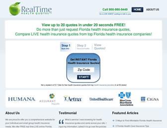 realtimehealthquotes.com screenshot