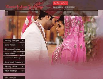 exoticindianweddings.com screenshot