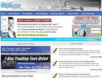 thelazytrader.com screenshot