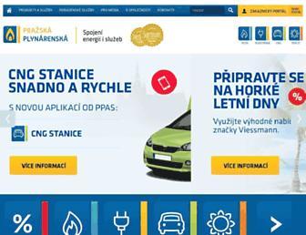 Main page screenshot of ppas.cz