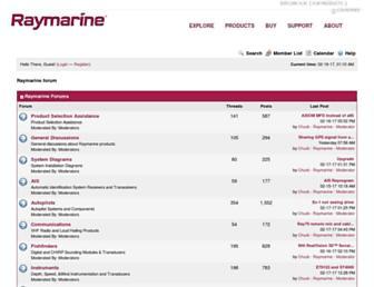 forum.raymarine.com screenshot
