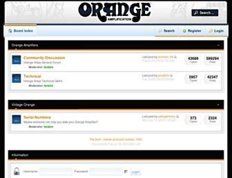 forum.orangeamps.com screenshot