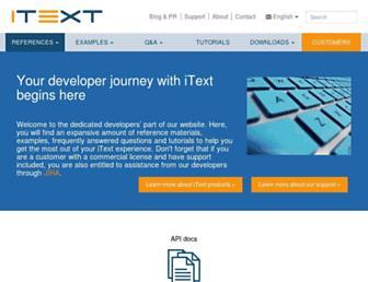 developers.itextpdf.com screenshot