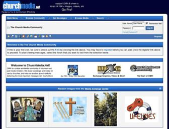 Main page screenshot of churchmedia.net