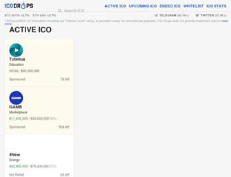 icodrops.com screenshot