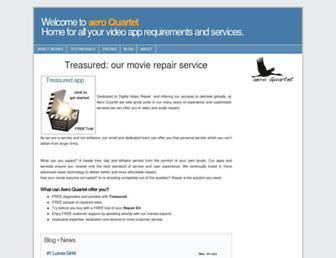 aeroquartet.com screenshot