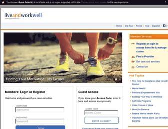 Thumbshot of Liveandworkwell.com