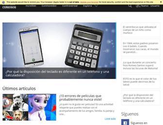 paraloscuriosos.com screenshot