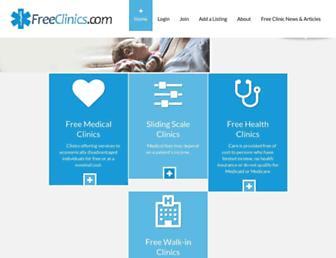 freeclinics.com screenshot