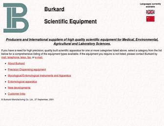 Main page screenshot of burkard.co.uk