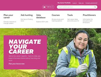 Main page screenshot of careers.govt.nz