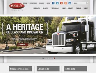 peterbilt.com screenshot