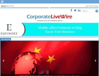 corporatelivewire.com screenshot