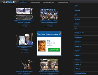 Main page screenshot of vosflux.tv