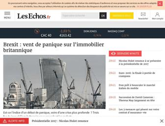 Main page screenshot of lesechos.fr