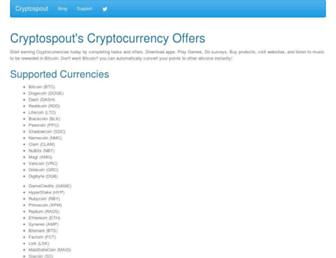 Thumbshot of Cryptospout.com