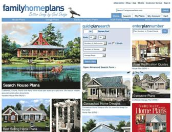 familyhomeplans.com screenshot