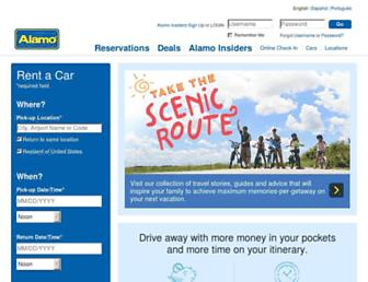 alamo.com screenshot