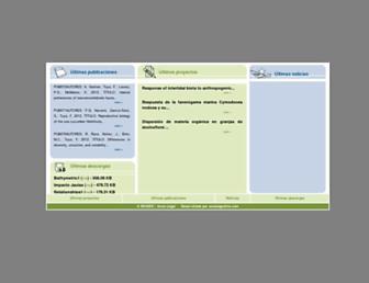 Main page screenshot of bioges.org