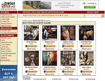 cowboylyrics.com screenshot