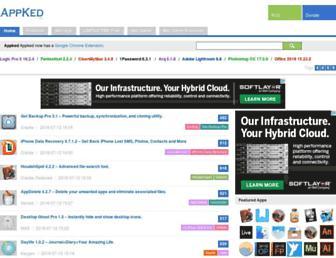 Main page screenshot of appdl.net