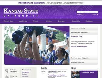 Main page screenshot of k-state.edu