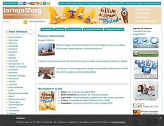 Main page screenshot of larioja.org
