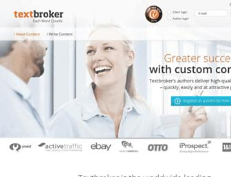 textbroker.co.uk screenshot