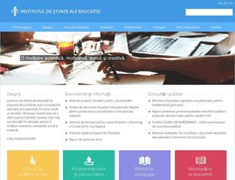 Main page screenshot of ise.ro