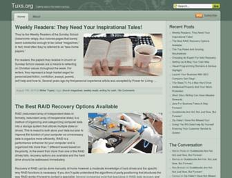 Main page screenshot of tuxs.org