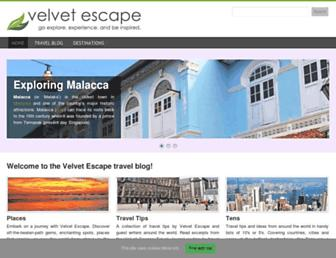 velvetescape.com screenshot