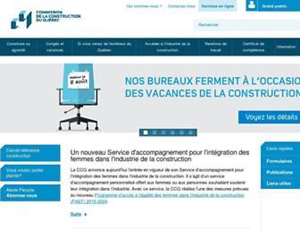 Main page screenshot of ccq.org