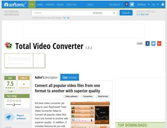 rayfoxsoft-total-video-converter.en.softonic.com screenshot