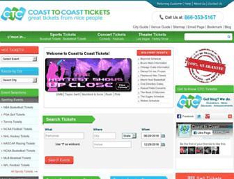 Thumbshot of Coasttocoasttickets.com