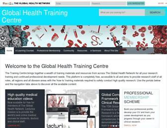 globalhealthtrainingcentre.tghn.org screenshot
