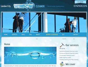 Main page screenshot of londoncity-window-cleaner.co.uk
