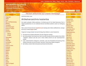 Main page screenshot of power-artikel.de