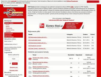 Main page screenshot of php-fusion.pl