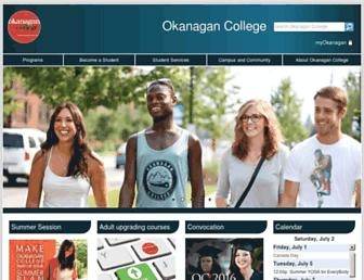 okanagan.bc.ca screenshot