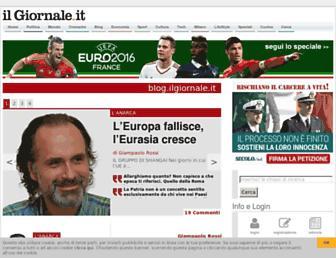 Main page screenshot of blog.ilgiornale.it
