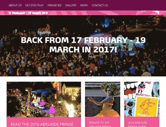 adelaidefringe.com.au screenshot